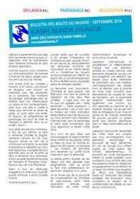 Bulletin de Septembre mis en ligne