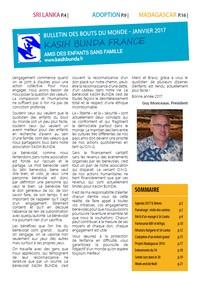 Bulletin de Janvier mis en ligne