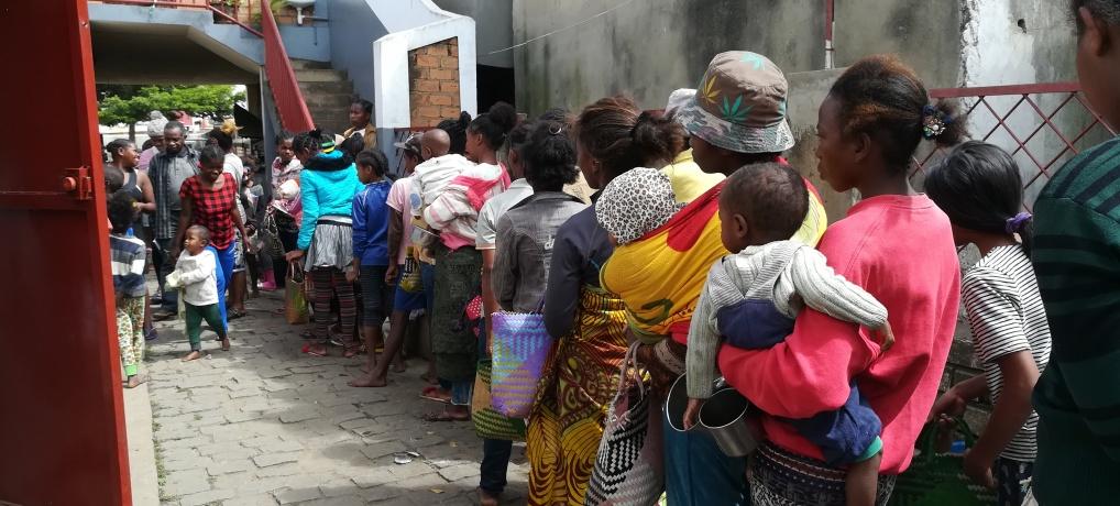 Aide alimentaire d'urgence à Ambodirano-Madagascar